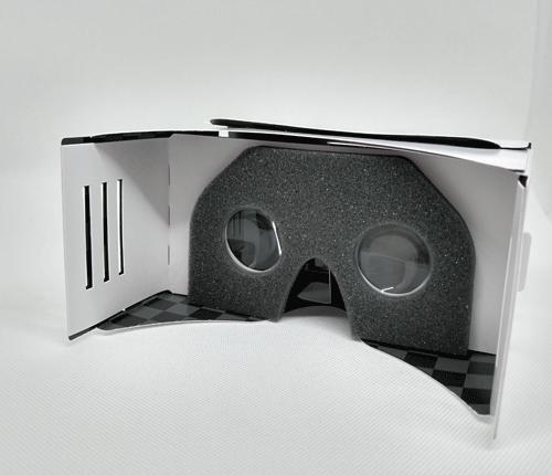 VR Cardboard   mit Aufkleber